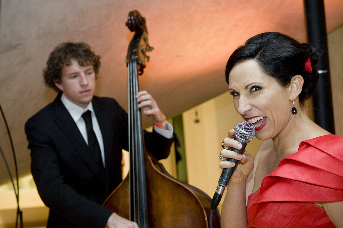 Bassist Nick Abbey and Libby snapped at a corporate function by photographer Christian Sprogoe in 2010
